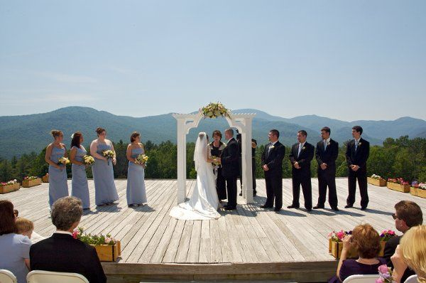 Wedding ceremony at the trapp family lodge