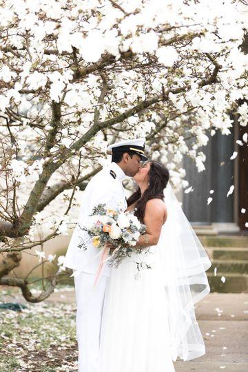 Romantic Navy, Newport Wedding
