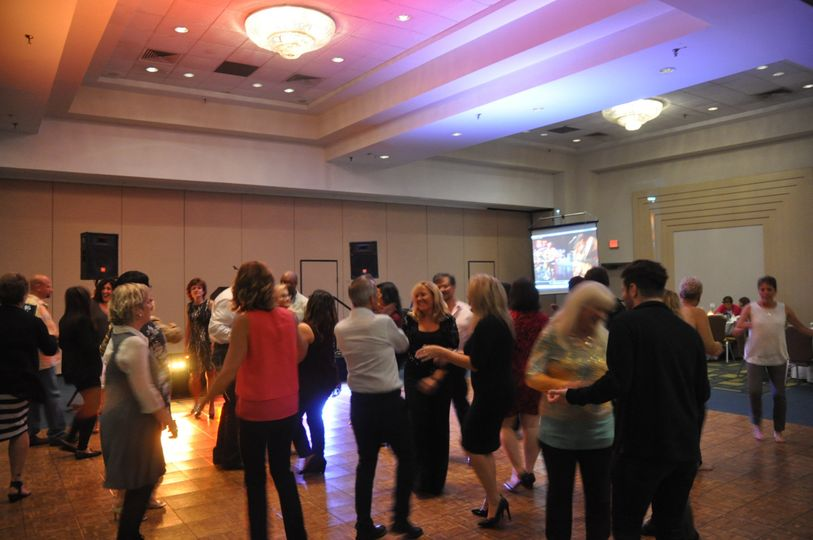 """Example of dance floor 'Up Lights"""" in action that can be utilized as both ambiance uplighting or..."""