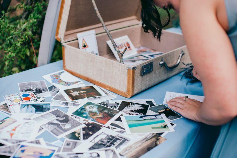 A box of photos