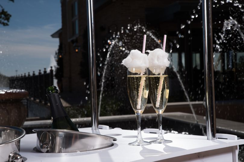 Cotton Candy Champagne Toppers