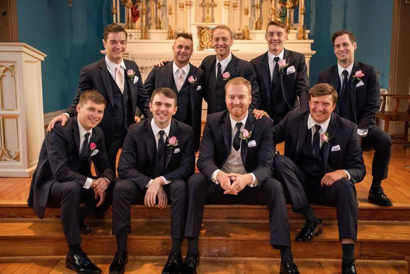 Groomsmen at altar