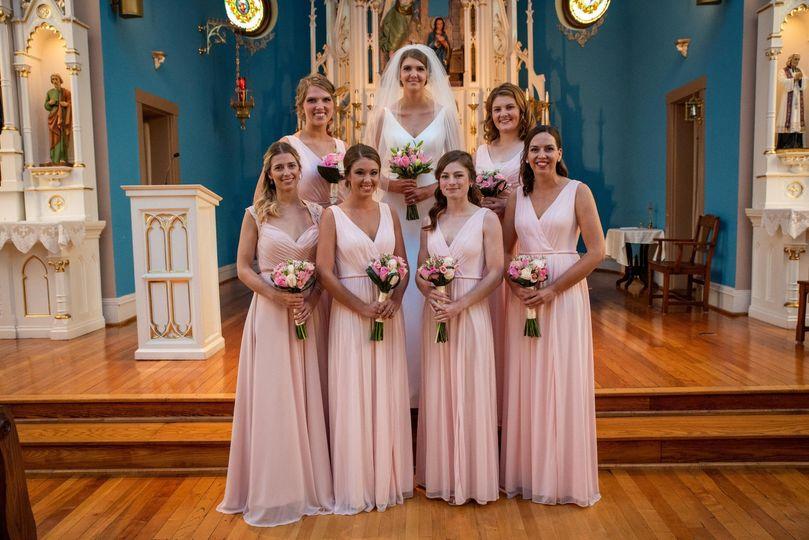 Wedding party with bride