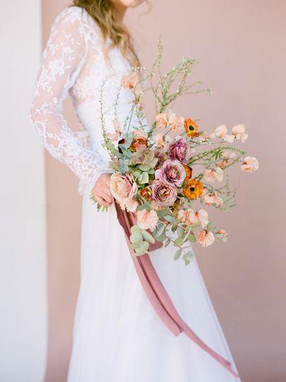 Wild organic spring bouquet