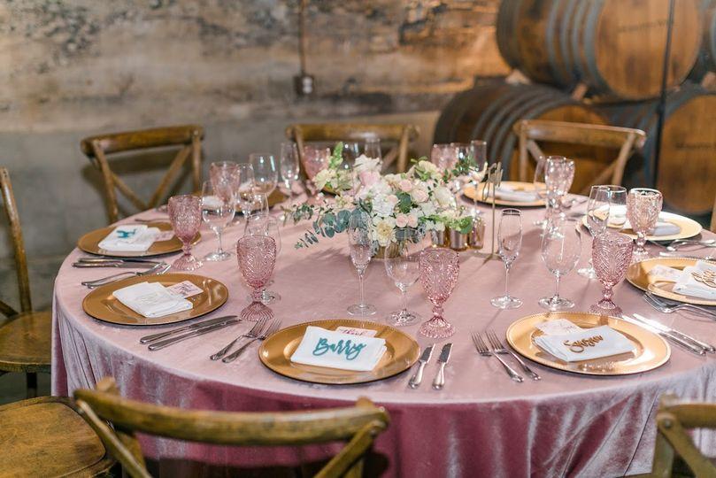 Romantic blush winery wedding