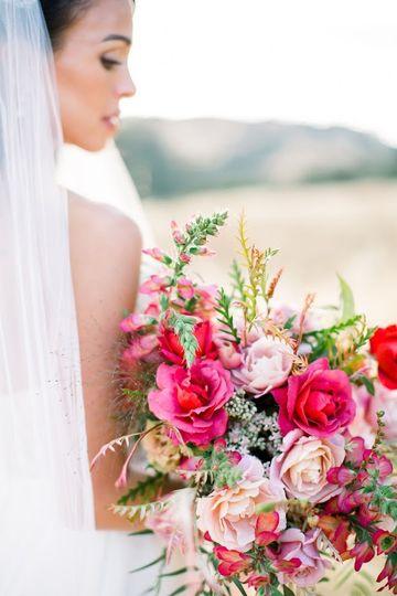 Rich garden rose bouquet
