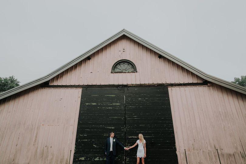 Barn farm wedding