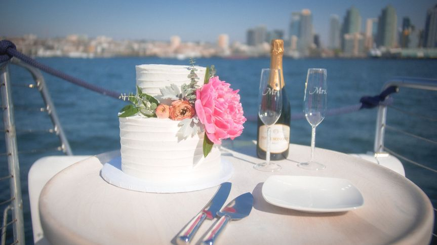 Cake cutting on the water
