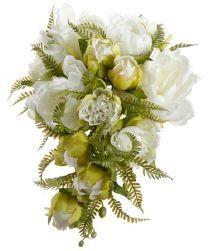 9 5 peony fern cascade wh
