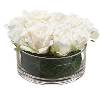 Tmx 1461340030004 6hx7.5d Rose In Glass Vase Cream Lakewood wedding florist