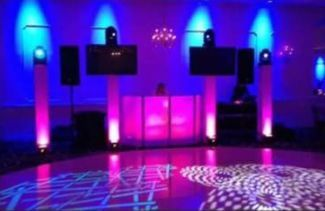 DJ station with lighting