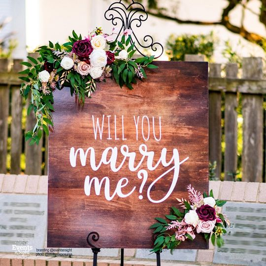 Proposal signs