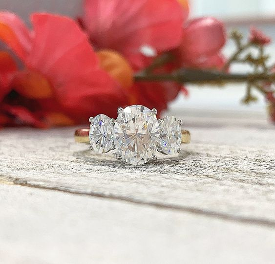 3 Stone Moissanite RIng