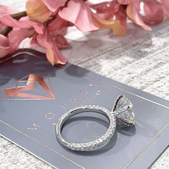 3 Edge Pave Diamond Band