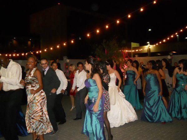 Cupid Shuffle at reception at 511 S. Palafox on patio