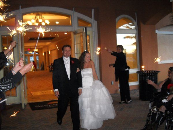 wedding exit at Scenic Hills Country Club