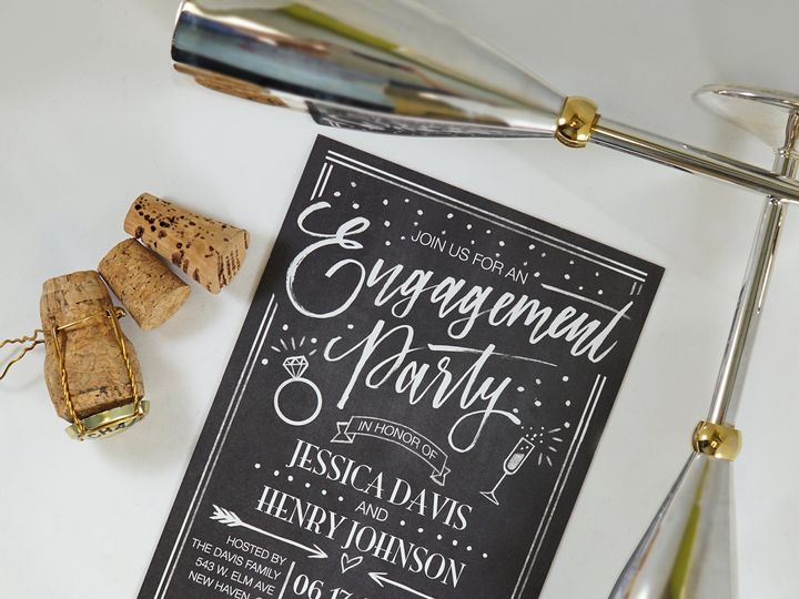 Tmx Bonniemarcus Chalkboard Whimsy Engagement 51 125115 161420710719419 Oxnard, CA wedding invitation