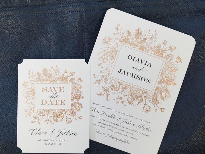 Tmx Scb Boxed Blooms Foil 51 125115 1569263960 Oxnard, CA wedding invitation