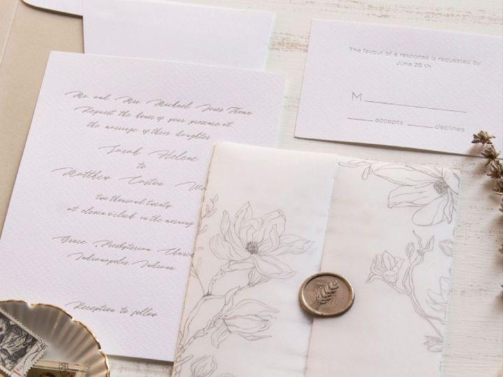Tmx Sweet Magnolia Reg 51 125115 161420710796417 Oxnard, CA wedding invitation