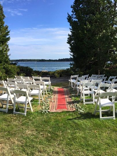 Island Wedding ceremony setup