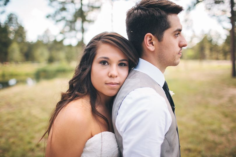 Bride & Groom Portrait | Cathedral Pines, Colorado
