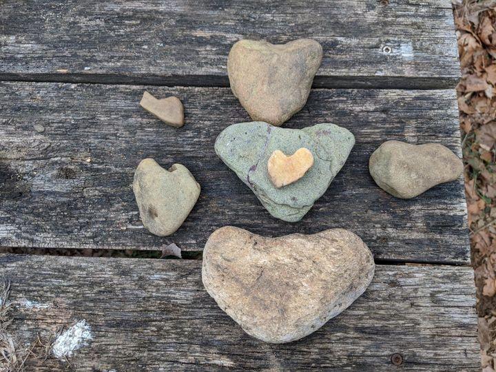 Roach River Heart Rocks