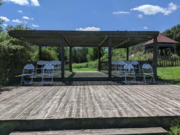 Veranda ceremony set up
