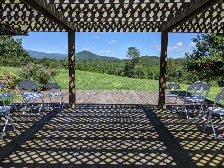 Veranda ceremony with a view