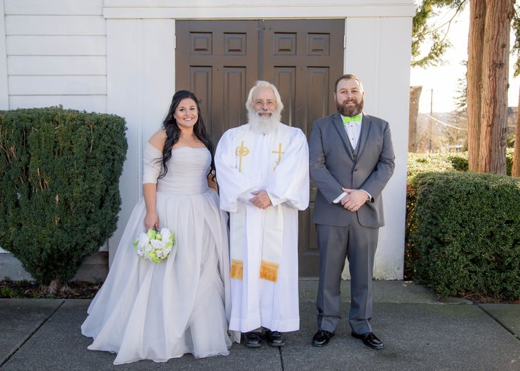 Reverend with the couple