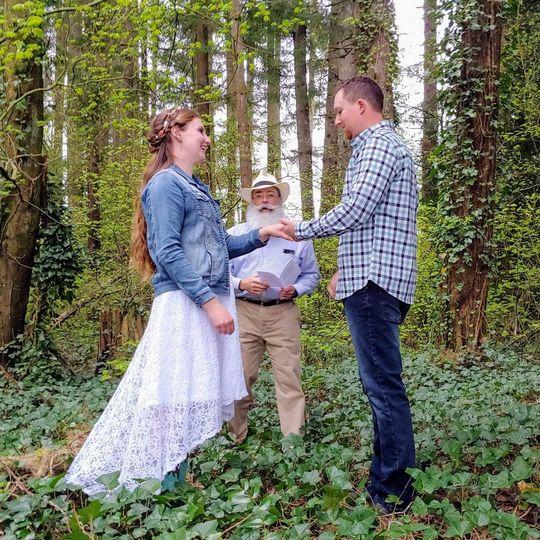A woodsy elopement