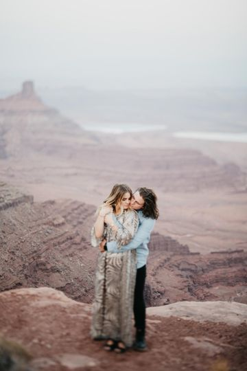 Engagement session in Moab