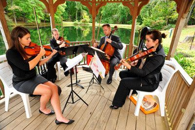 String quartet in the Gazebo