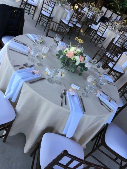Table setting in the Pavilion