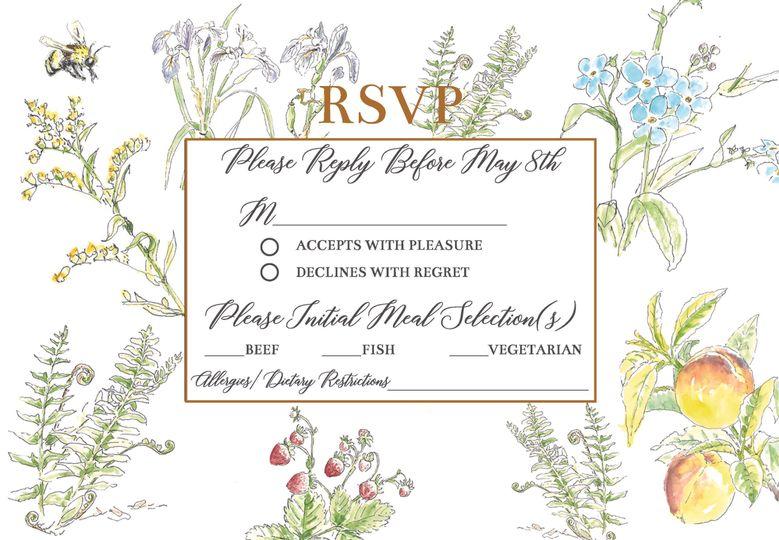 Invitation Suite RSVP Card