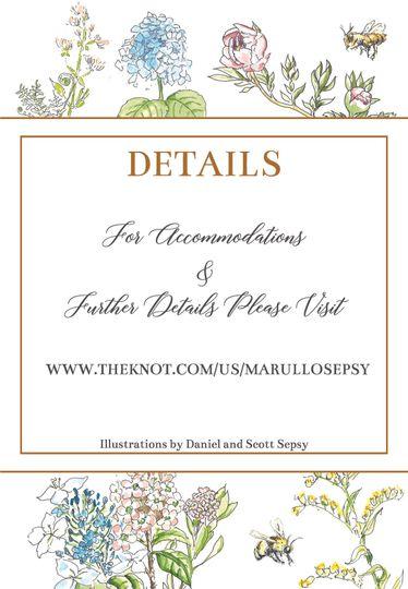 Invitation Suite Details Card