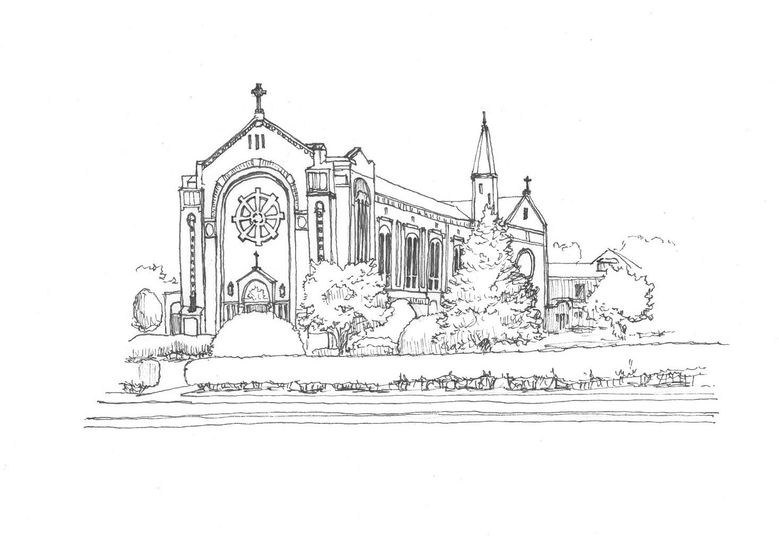 Custom Wedding Venue Sketch