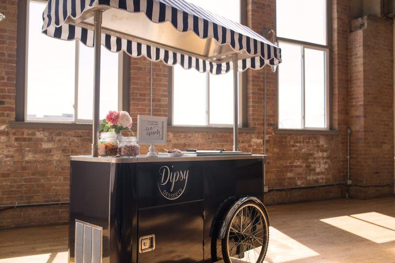 Vintage style ice cream cart