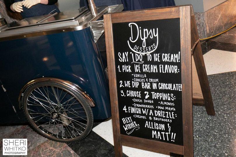 Personalized chalkboard menu
