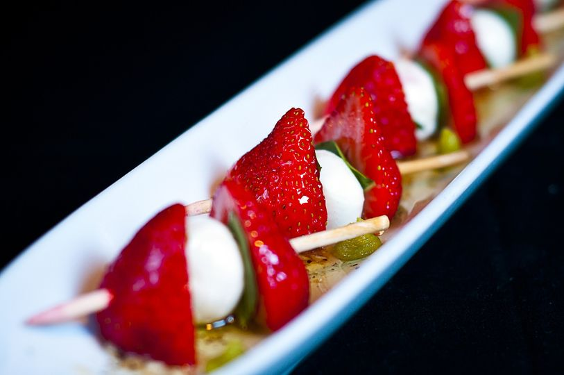 strawberry caprese skewer