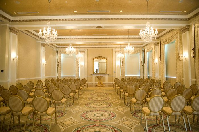 Ballroom Set for Wedding Ceremony