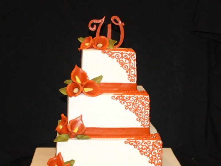 Tmx 1317073231493 Orangelily1 Houston wedding cake