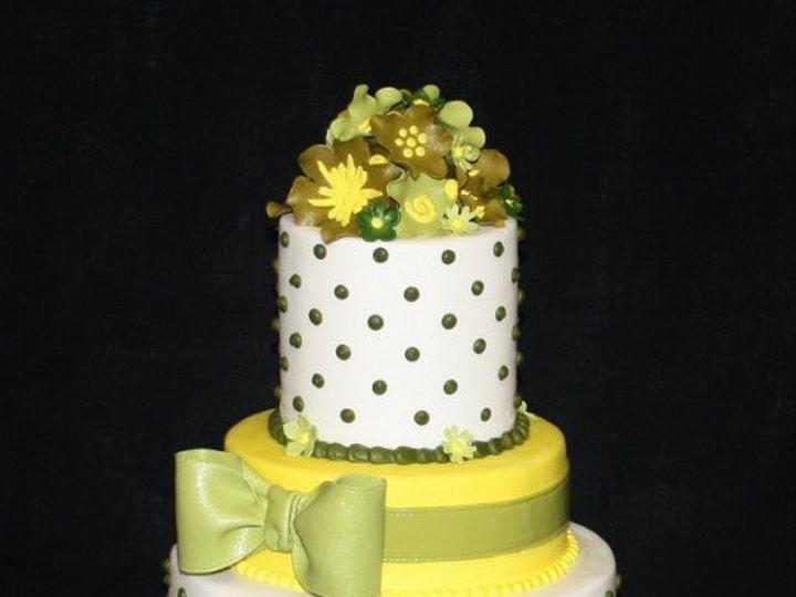 Tmx 1317073306559 Greenaqndyellow Houston wedding cake