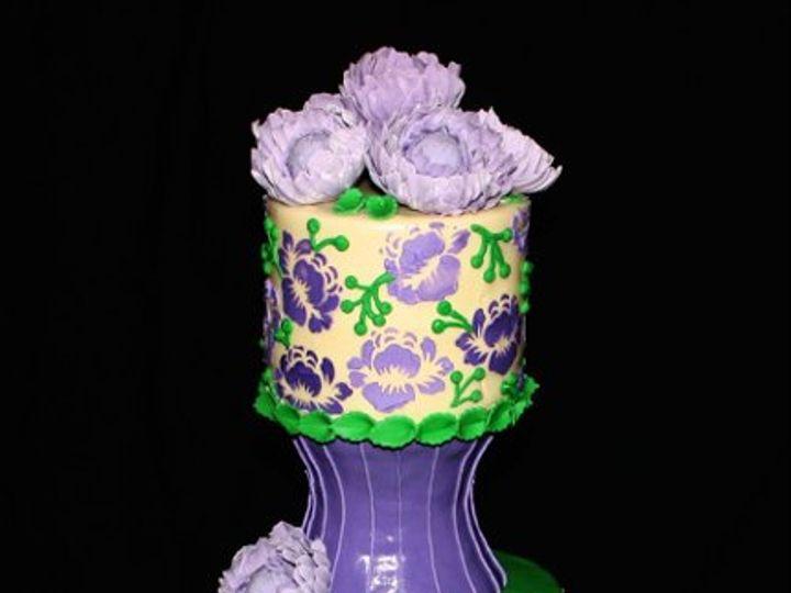 Tmx 1317073377609 Purple70th2 Houston wedding cake
