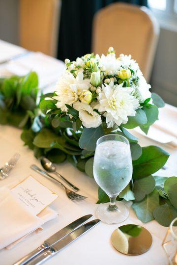 Goblet floral arrangement