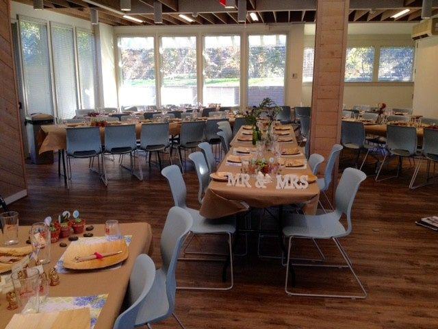 lake view room wedding reception