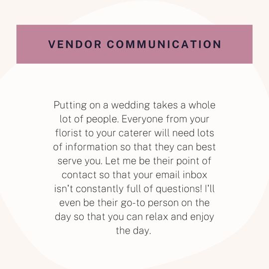 Vendor communication