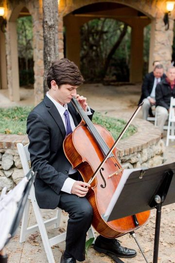 Cellist performs for ceremony