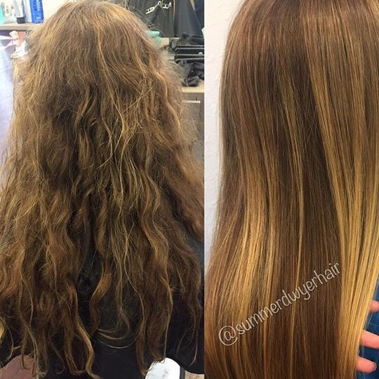 Before and after hair color
