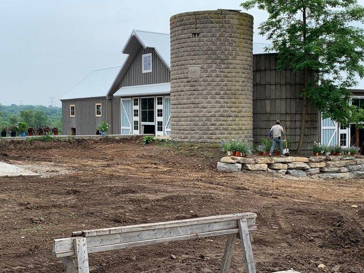 Landscaping Begins