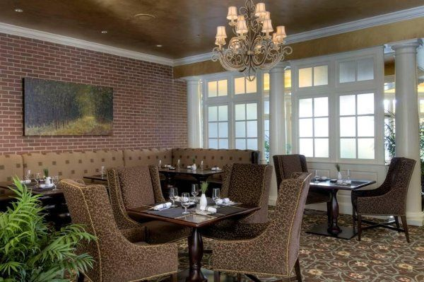 Woodlands Mansion, The Pines, Casual Dining Area Charleston's Premiere Luxury Event Venue...